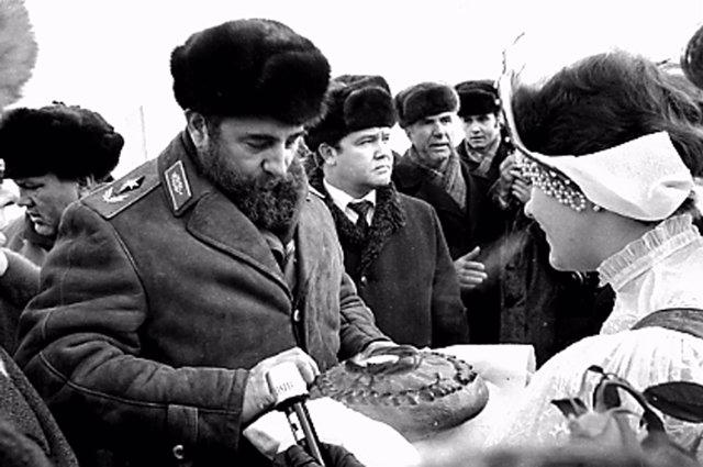 Fidel Castro en Moscú