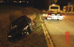 Accidente de tráfico en una carrera ilegal en Mutilva