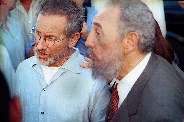 Steven Spielberg y Fidel Castro
