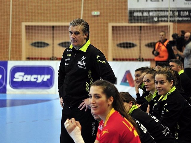 Jorge Dueñas selección española balonmano femenino Elda Guerreras