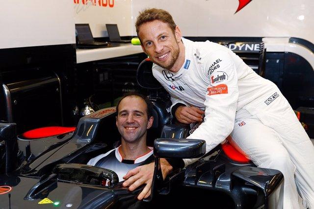 Jenson Button McLaren Abu Dabi retirada
