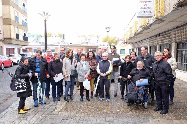 Iniciativa de la Gerencia de Urbanismo de Sevilla con vecinos de San Jerónimo