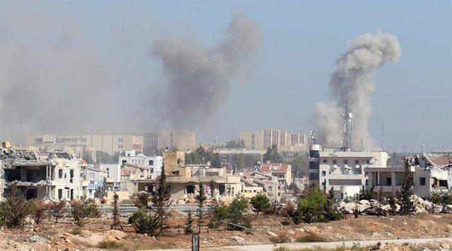 Ataques rebeldes sobre la zona gubernamental de Alepo