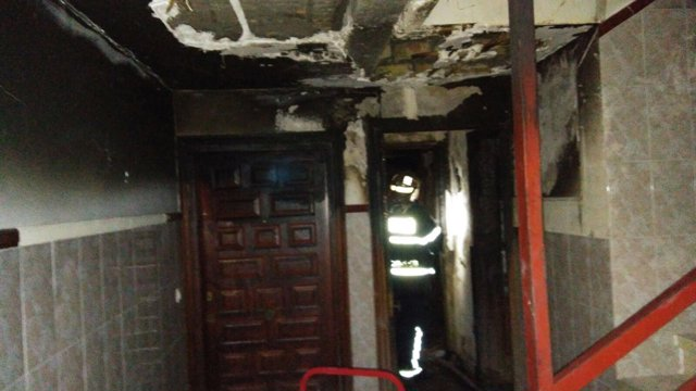 Incendio de vivienda en Jerez de la Frontera (Cádiz)