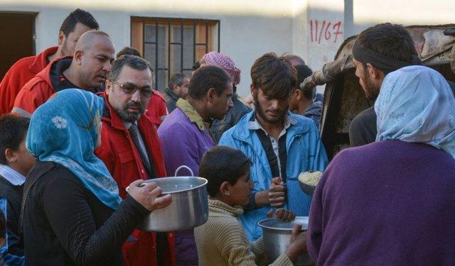 Desplazados de Alepo