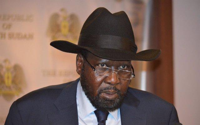 El presidente de Sudán del Sur, Salva Kiir.