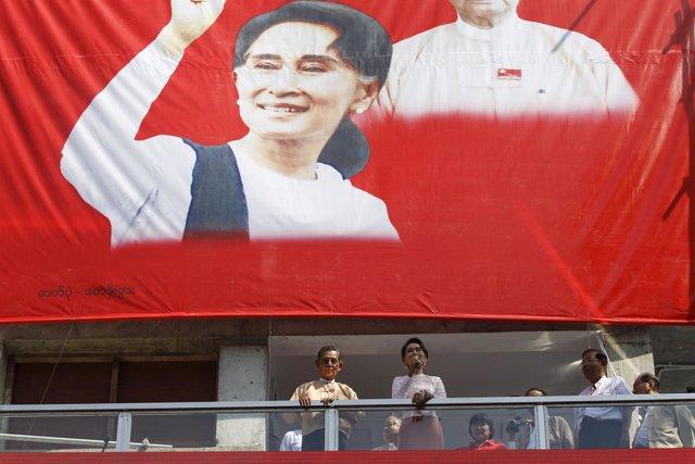 La líder de la LND de Birmania, Aung San Suu Kyi