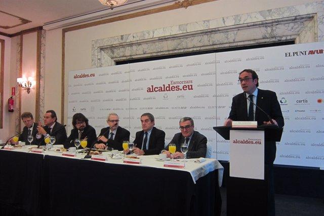 Ferran Bel, Sixte Cambra, Ricard Font, Ferran Tarradellas, Ramon Torra, Àngel Ro