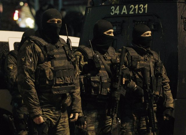 Fuerzas especiales de la Policía de Turquía en Estambul