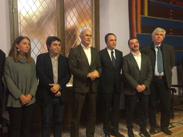 Firma del acuerdo marco de instituciones catalanas de cooperación por el Líbano