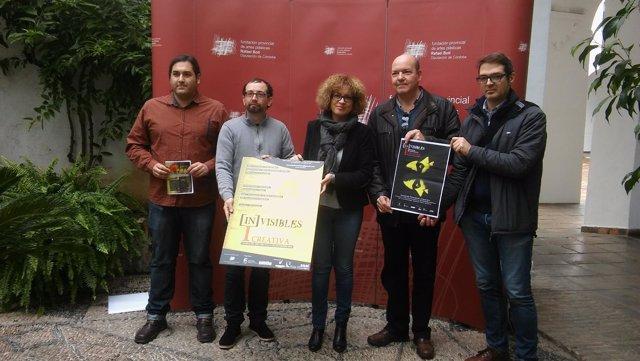 Ruz, junto a organizadores, durante la presentación del evento