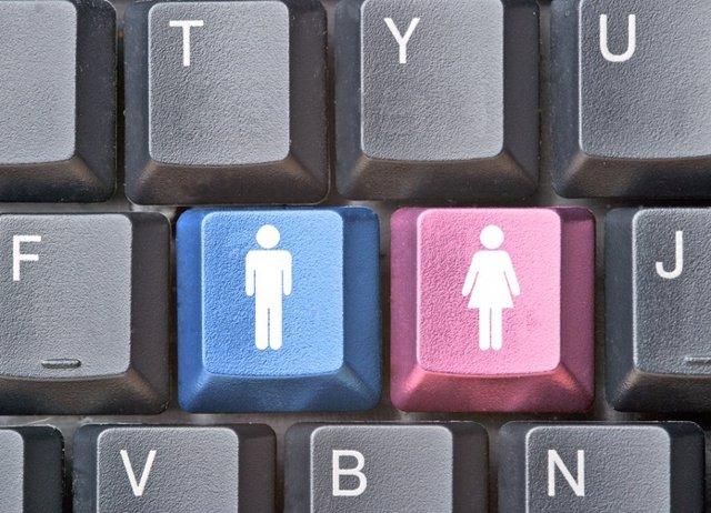 Genero, masculino, femenino, teclado