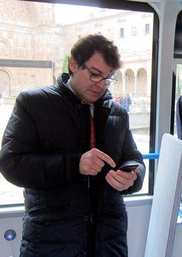 Alfonso Fernández Mañueco, este lunes en Salamanca