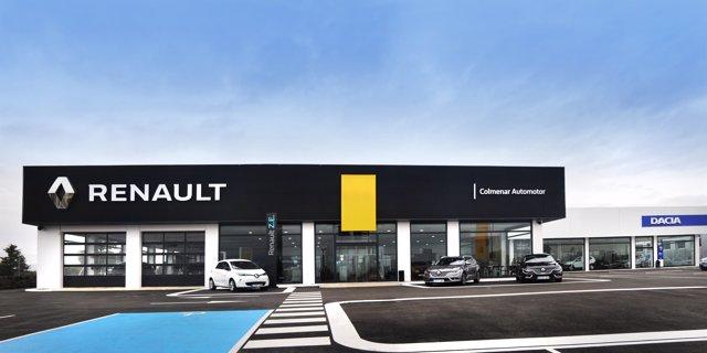 Nueva fachada del concesionario Colmenar Automotor de Renault