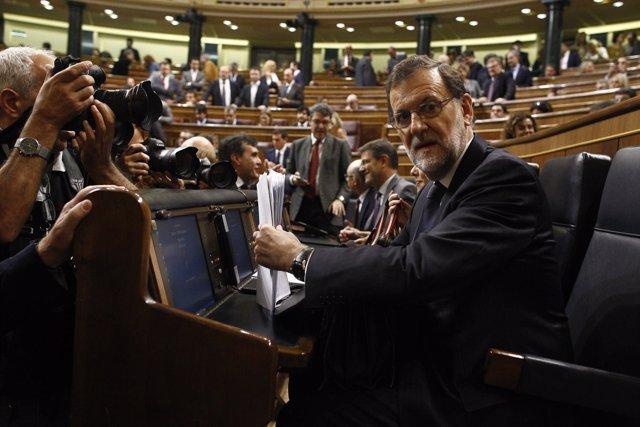 Rajoy en el debate de investidura en el Congreso