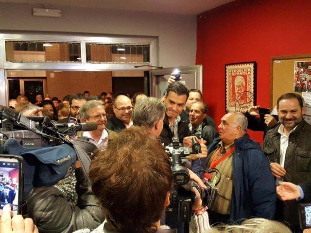 Pedro Sánchez el sábado en su visita a Sueca (Valencia)