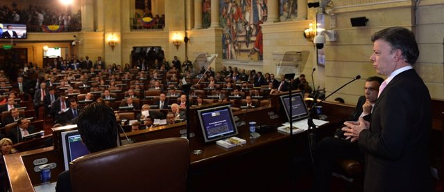 Santos en el Congreso colombiano