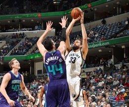 Marc Gasol en el Memphis Grizzlies - Charlotte Hornets