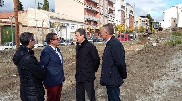 Inicio de las obras de construcción de las paradas de autobús en Caravaca