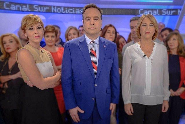 Presentadores de Canal Sur TV respaldan la campaña contra la violencia de género