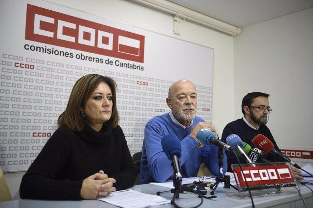 Javier González, del sector público de CCOO, en rueda de prensa