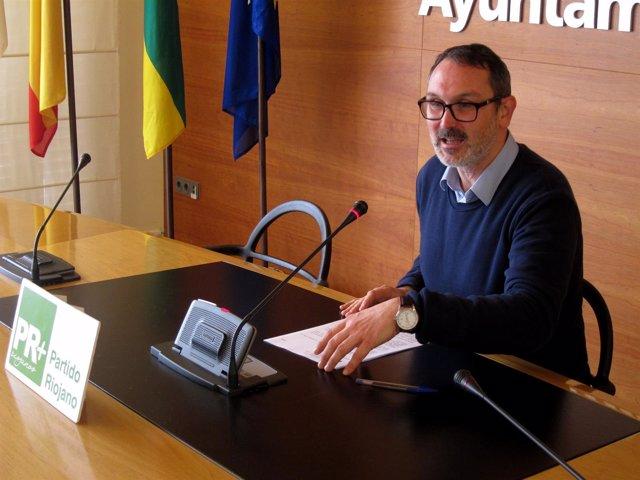 El concejal del PR+ Rubén Antoñanzas