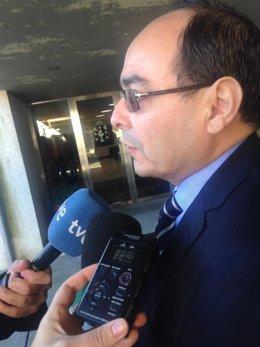 El embajador de Paraguay, Antonio Rivas, antes de reunirse con Núñez Feijóo