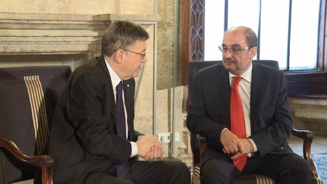 Ximo Puig y Javier Lambán
