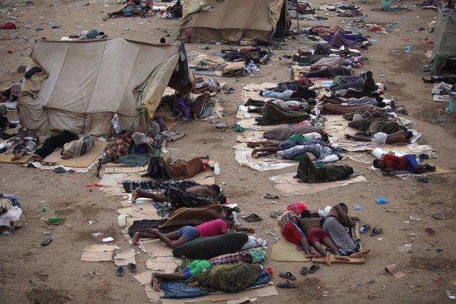 Inmigrantes etíopes en Yemen cerca de la frontera con Arabia Saudí