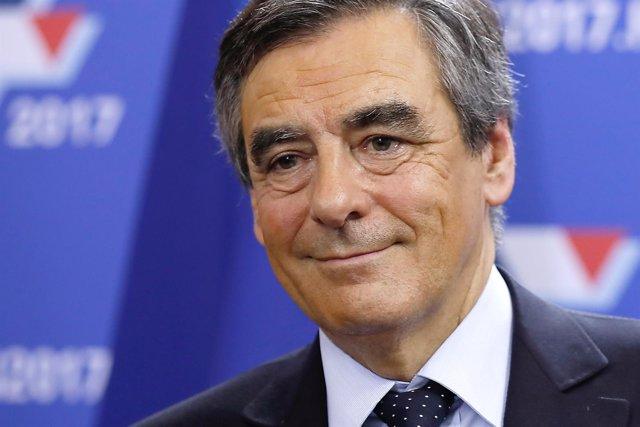 El precandidato presidencial francés François Fillon