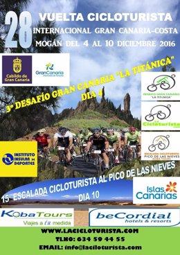 La Cicloturista de Gran Canaria se celebra del 4 al 10 de diciembre