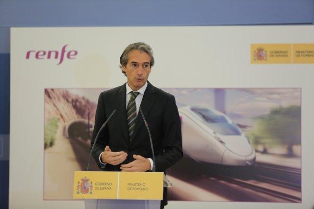 Íñigo de la Serna anuncia la adjudicación del contrato de trenes AVE de Renfe
