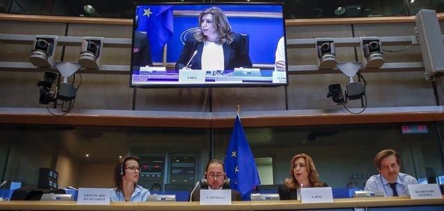 Susana Díaz interviene ante el Grupo Socialista en la Eurocámara