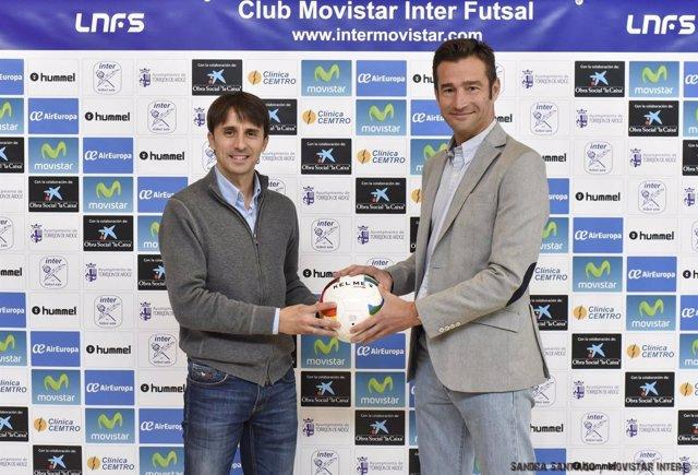 César Muñoz con Javier Lorente
