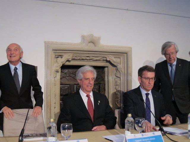 Encuentro del presidente de Uruguay con empresarios gallegos