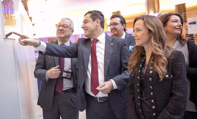 El presidente del PP-A, Juanma Moreno, en Bruselas