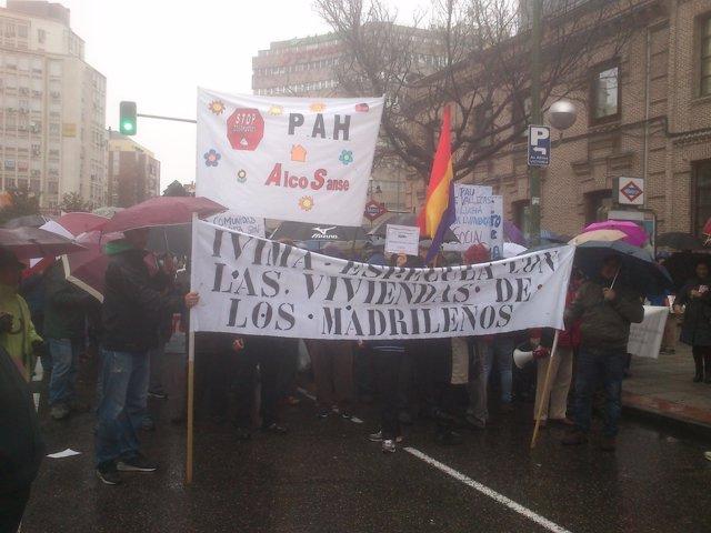 Marcha contra la venta de viviendas del IVIMA