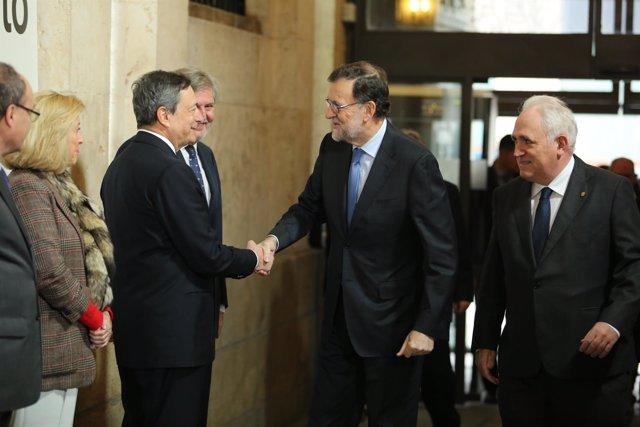 Rajoy y Mario Draghi participan en el centenario de Deusto Bussiness School