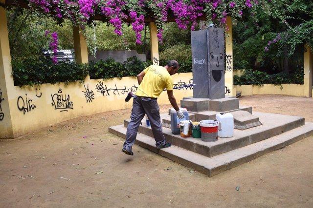 Escultura del monumento al clima