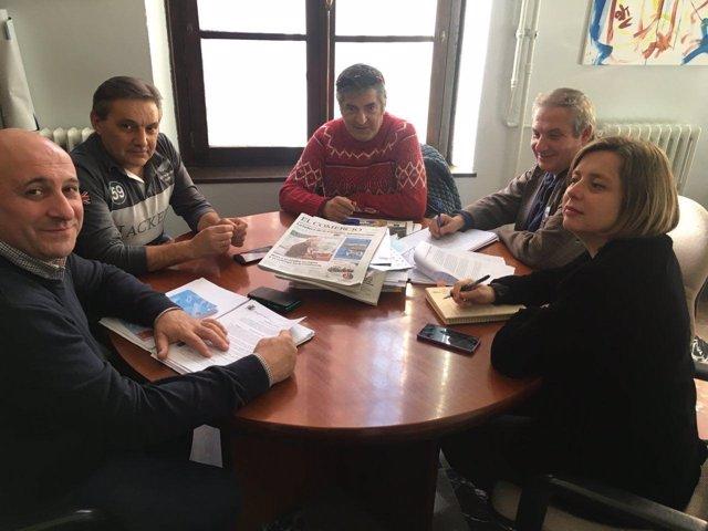 Reunión de Somos y el comité de empresa de TUA