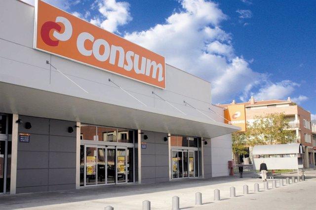 Un supermercado Consum