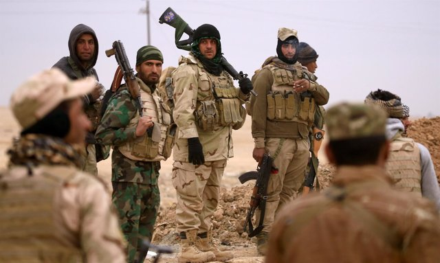 Miembros del grupo suní tribal 'Leones del Trigis' en Irak.