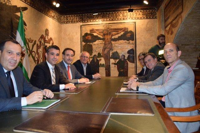 Reunión consejero de Fomento en Marbella