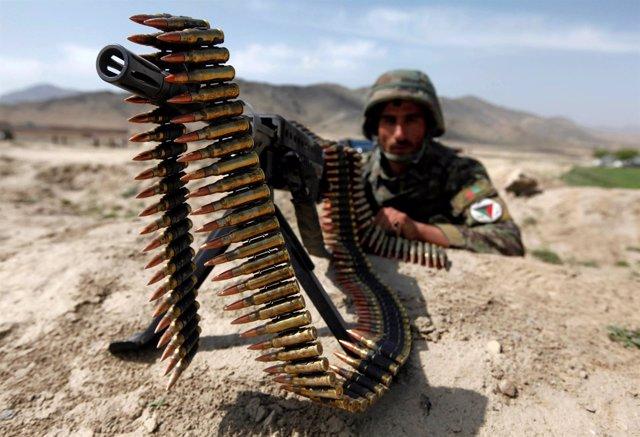 Soldado del Ejército afgano