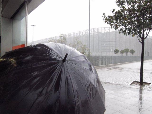 Lluvias persistentes en Euskadi (Bilbao)