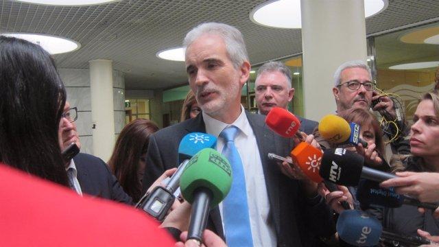 El consejero de Salud de la Junta de Andalucía, Aquilino Alonso.