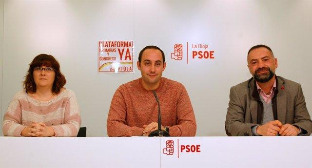 Marta Alcalde, Adrián Calonge y roberto Negueruela