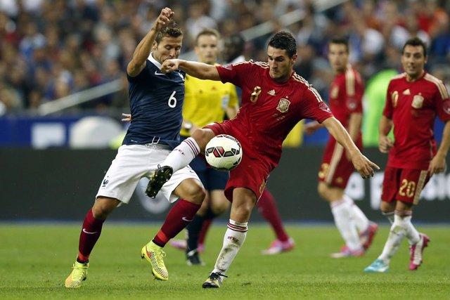 Yohan Cabaye Koke selección española España Francia amistoso