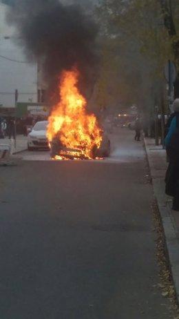 Imagn del coche ardiendo