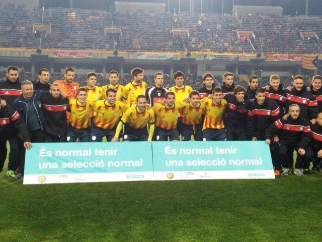 Selección catalana ante Cabo Verde